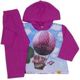 conjunto de moletom pink 3774