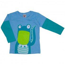camiseta manga longa azul claro 3679
