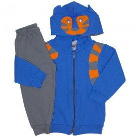 conjunto jaqueta e calca de moletom azul palacio 3670
