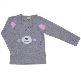 blusa meia malha ursinho mescla 3622