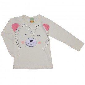blusa meia malha ursinho off white 3622