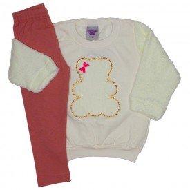 conjunto blusa off white e legging 3620