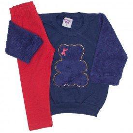 conjunto blusa marinho e legging 3620