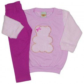 conjunto blusa rosa e legging 3620
