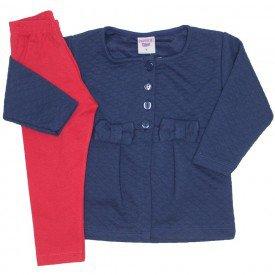 conjunto casaco de moletom marinho e legging 3614