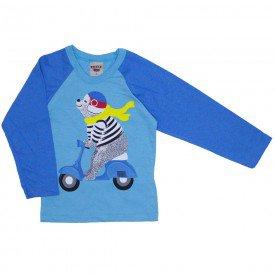 camiseta manga longa azul claro 3680