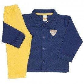 conjunto casaco e calca de moletom marinho 3659
