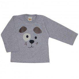 camiseta manga longa cinza mescla 3665