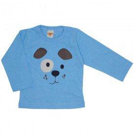 camiseta manga longa azul 3665