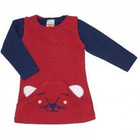 conjunto vestido vermelho e blusa 3609