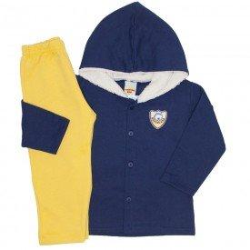 conjunto casaco e calca de moletom marinho 3671