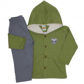 conjunto casaco e calca de moletom verde cactus 3671