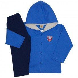 conjunto casaco e calca de moletom azul palacio 3671