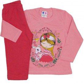 conjunto blusa de moletom coral e calca laranja 353