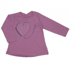 blusa meia malha rosa boca coracao strass 3607