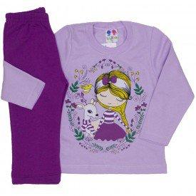 conjunto blusa de moletom lilas e calca uva 353