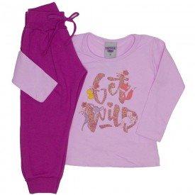 conjunto blusa rosa e calca 3619