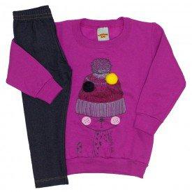 conjunto blusa pink e legging 3616