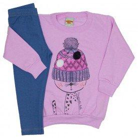 conjunto blusa rosa e legging 3616