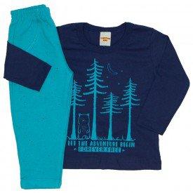 conjunto camiseta azul marinho e calca 3676