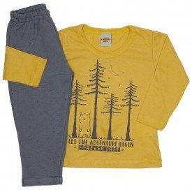 conjunto camiseta e calca amarelo pacoca 3676