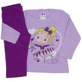conjunto blusa de moletom lilas e calca uva 350