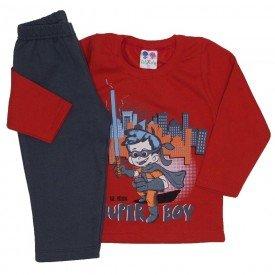 conjunto de moletom blusa vermelha e calca chumbo 362