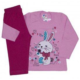 conjunto de moletom blusa rosa bebe e calca pink 354