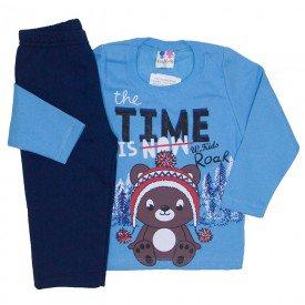 conjunto de moletom blusa azul e calca marinho 366