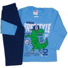 conjunto de moletom blusa azul e calca marinho 365
