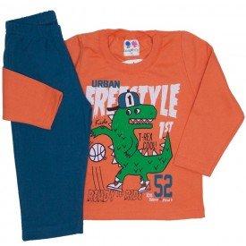 conjunto de moletom blusa laranja e calca petroleo 365
