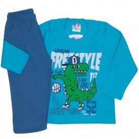 conjunto de moletom blusa verde e calca azul jeans 365
