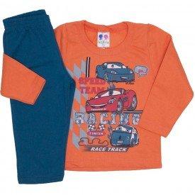 conjunto de moletom blusa laranja e calca petroleo 363