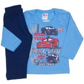 conjunto de moletom blusa azul e calca marinho 363