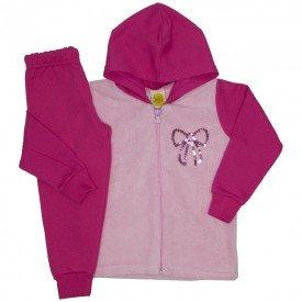 conjunto jaqueta pelos rosa 9517