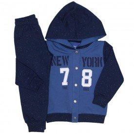 conjunto jaqueta moletom new york 78 indigo marinho 5267