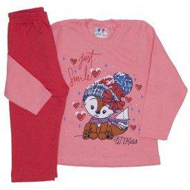 conjunto blusa de moletom coral e calca laranja 350