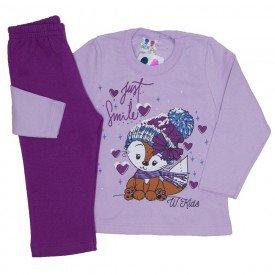 conjunto blusa de moletom lilas e calca uva 355