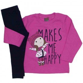 conjunto makes me happy pink e azul marinho 152
