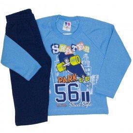 conjunto de moletom blusa azul e calca marinho 367