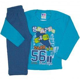 conjunto de moletom blusa verde e calca azul jeans 367