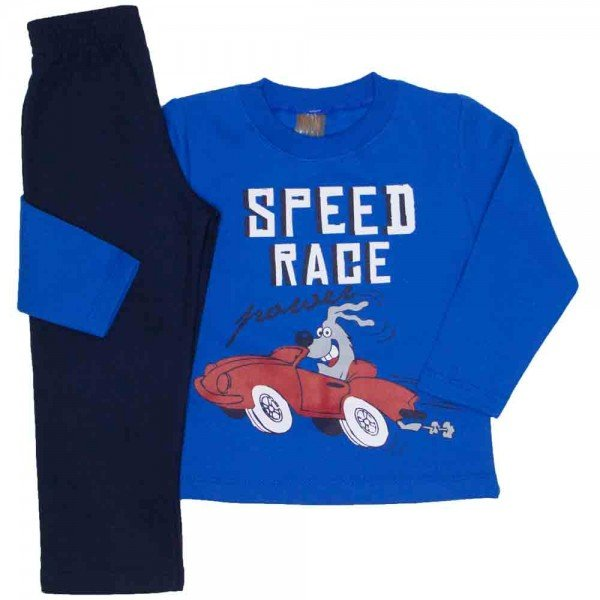 conjunto moletom blusa royal speed race e calca marinho 527
