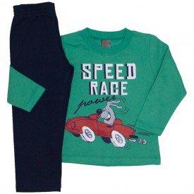 conjunto moletom blusa verde speed race e calca marinho 527