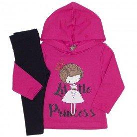 conjunto little princess pink e preto 151