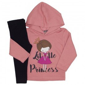 conjunto little princess rosa blush e preto 151