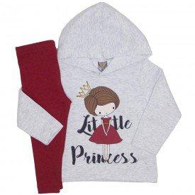 conjunto little princess mescla e vermelho rubi 151