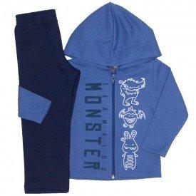 conjunto jaqueta monster azul indigo e calca marinho 524