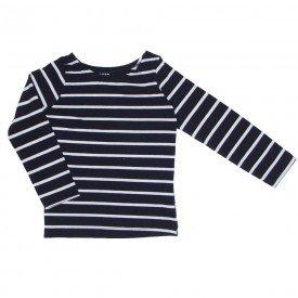 blusa de cotton listrada preto e branco 1181
