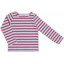 blusa de cotton listrada branco e vermelho 1181