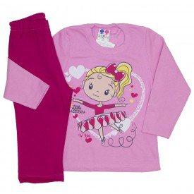 conjunto blusa de moletom rosa medio 350